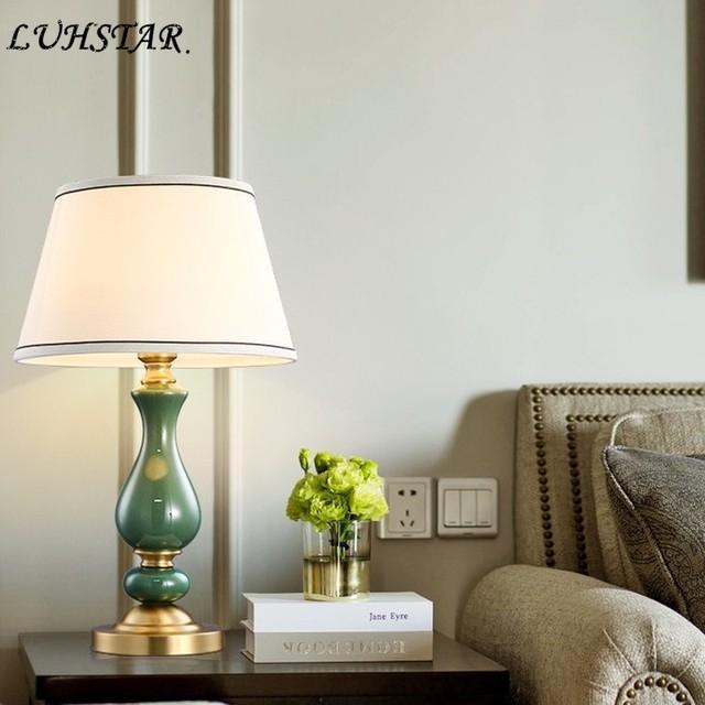Moderne Led Tisch Lampen Schlafzimmer Nacht Lampe Wohnzimmer Studie Stoff  Kunst Tafellamp De Chevet Chambre Home Deco bett