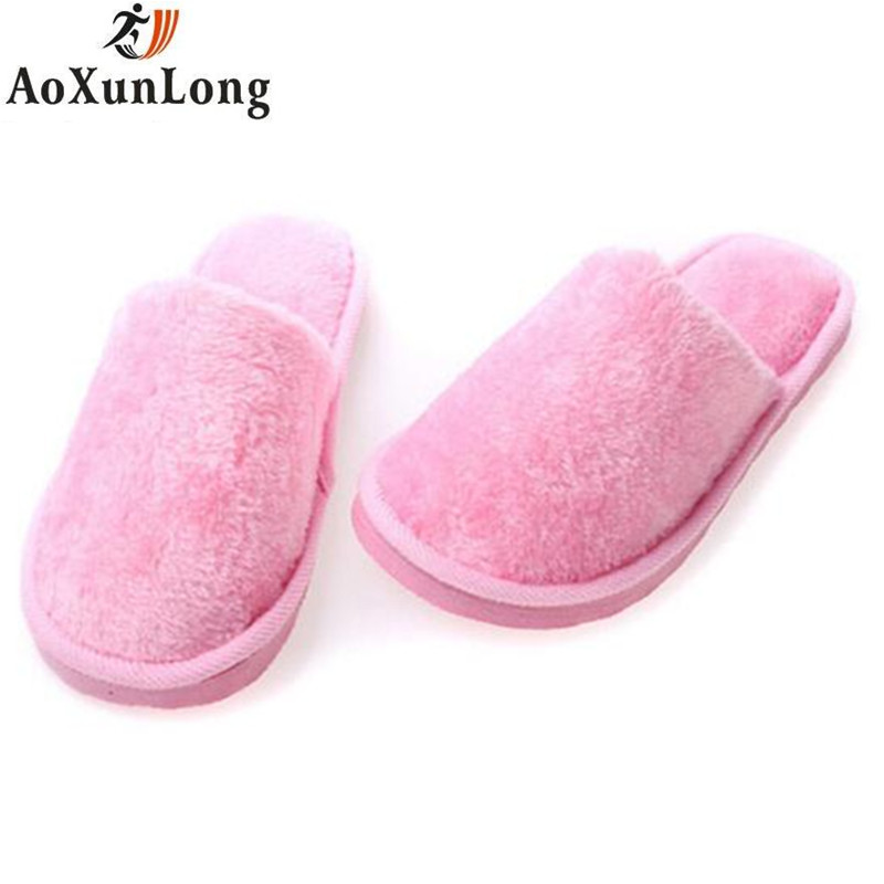 Winter Slippers Women Plush Warm Home Indoor Slippers Pink Green Shoes Woman zapatos mujer Home Slippers pantufa chinelo Size 40 fralosha new winter plush slippers women home slippers fashion plush warm indoor slippers for home shoes hot sale