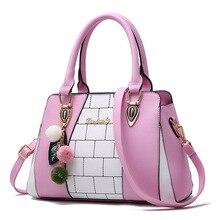 Фотография Female bag 2017 Women Handbags Luxury PU Leather Female Shoulder Bag Fashion Plaid Lady Crossbody Bag Large Capacity Tote Sac