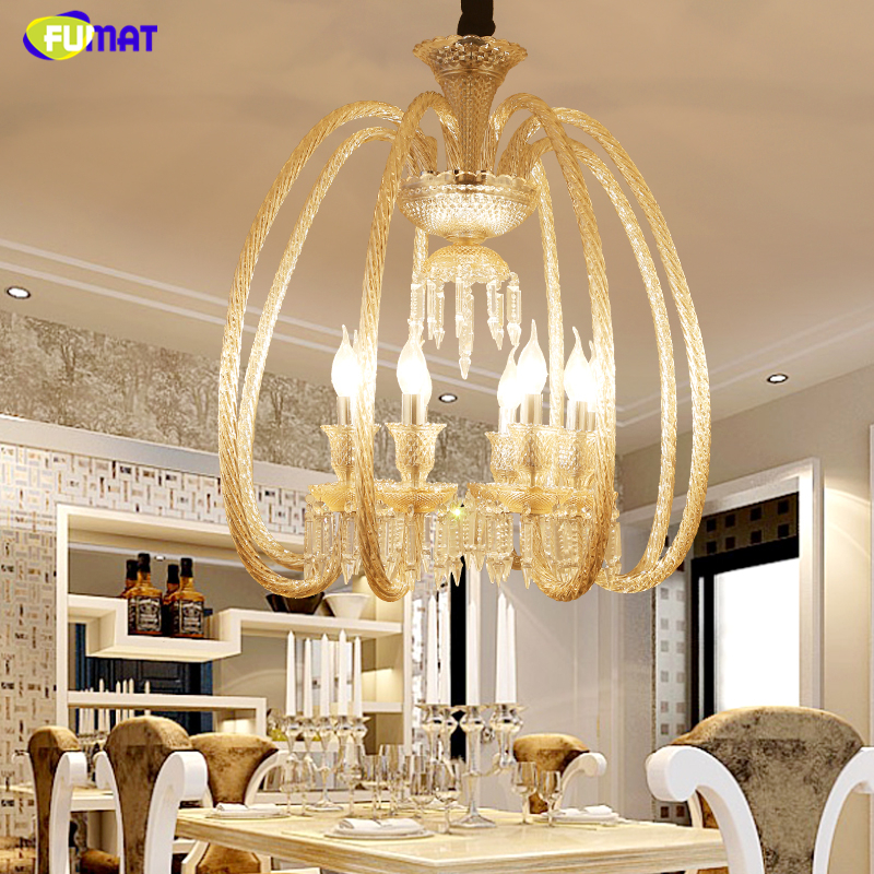 FUMAT Brief K9 Crystal Chandeliers Creative Art Amber Crystal Lights For Living Room Hotel European Style LED K9 Crystal Lights FUMAT Brief K9 Crystal Chandeliers Creative Art Amber Crystal Lights For Living Room Hotel European Style LED K9 Crystal Lights