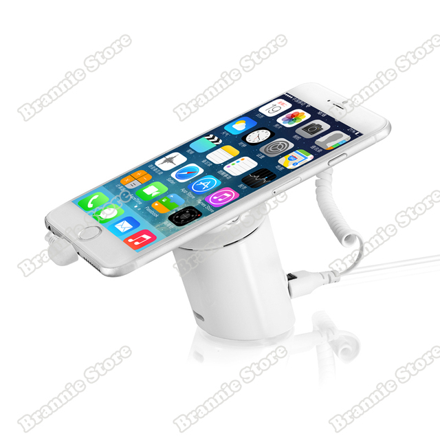 US $230 0 |10pcs/lot standalone cylinder mobile phone burglar alarm display  security stand holder for iphone/android phone free shipping-in EAS System