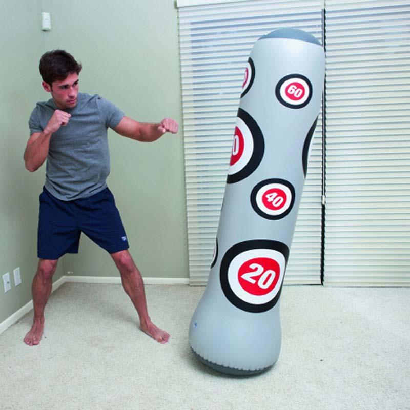 Height 160 cm Boxing Tumbler Sandbag Men Women Muay Thai boxeo Martial Sanda Training PVC Material Inflatable Fighting Column