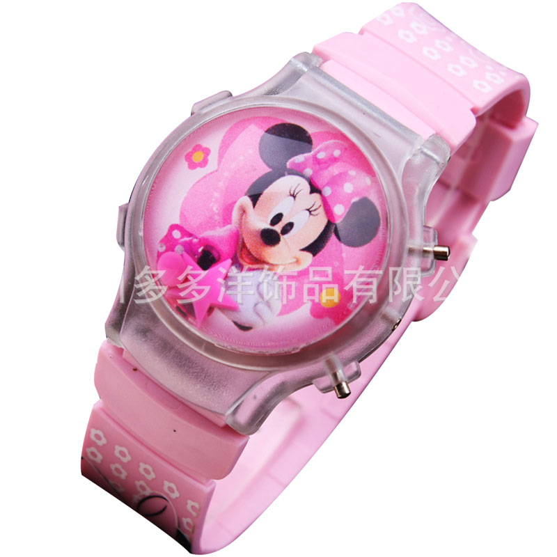2019 Fashion Boys Girls Silicone Digital  Cute Mouse Kids Watches Cartoon Christmas Gift Student Clock Children  Watch