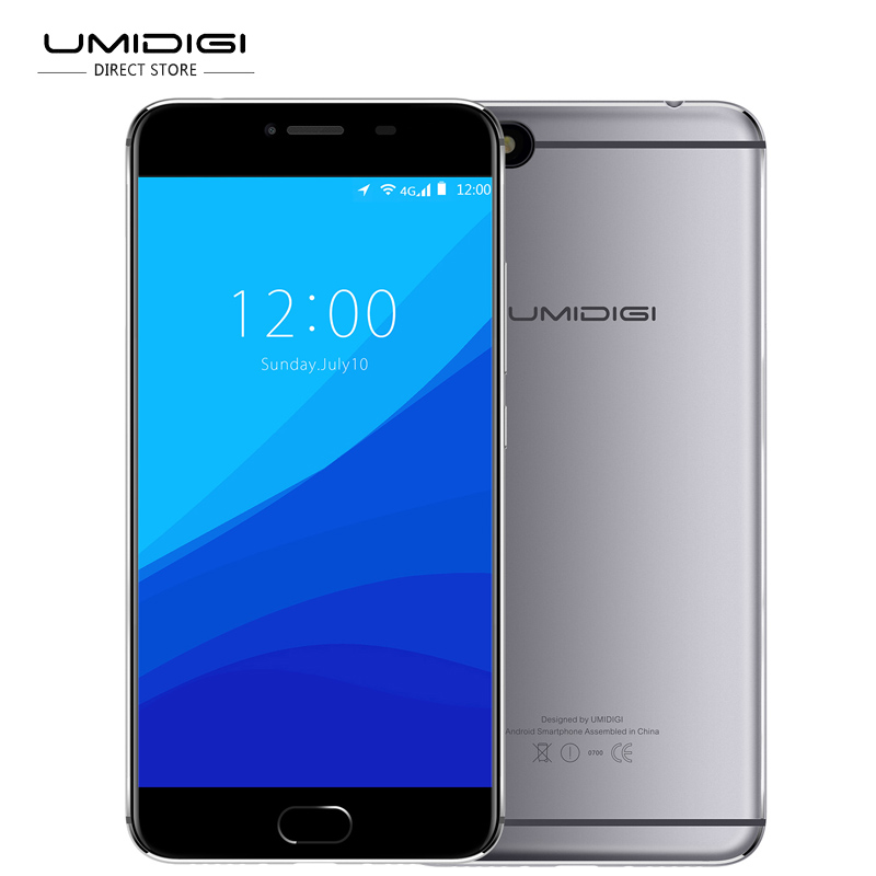 UMIDIGI C Note Android 7.0 Smartphone 5.5'' FHD Screen MT6737T Cellphone 4G LTE 3G RAM 32G ROM 13MP Camera 2 SIM Mobile Phone