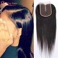Cheap 7A Brazilian Straight Lace Closure Bleached Knots 4x4 Virgin Human Hair Lace Closure Free Middle 3 Part Top Lace Closures
