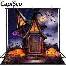 Capisco fotografia fundo dos desenhos animados Casa da Bruxa da abóbora de Halloween tema cenário foto fundo do estúdio profissional
