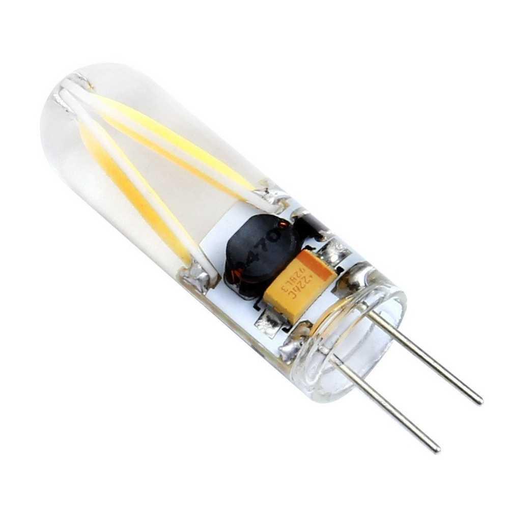 G4 Светодиодная лампа прожектор охлаждающее стекло 12 В AC DC cob кукурузная лампа силиконовые лампы поддерживающие люстры белый теплый белый 10 шт.