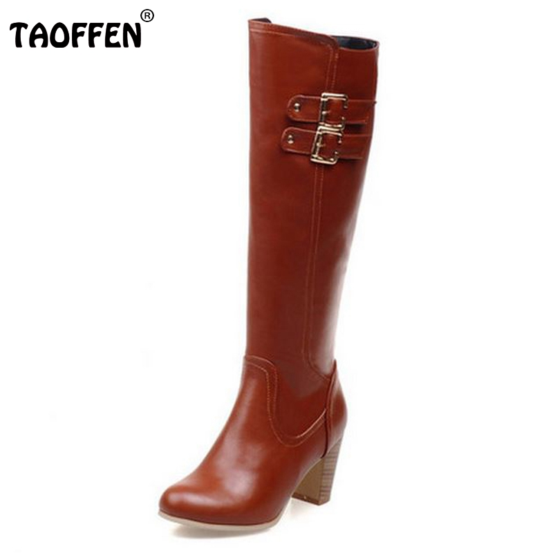 Size 31-48 Women High Heel Over Knee Boots Fashion Winter Warm Riding Long Boot Round Toe Quality Footwear Heels Shoes size 31 45 women real genuine leather high heel over knee boots winter warm long boot riding quality sexy footwear shoes r8297