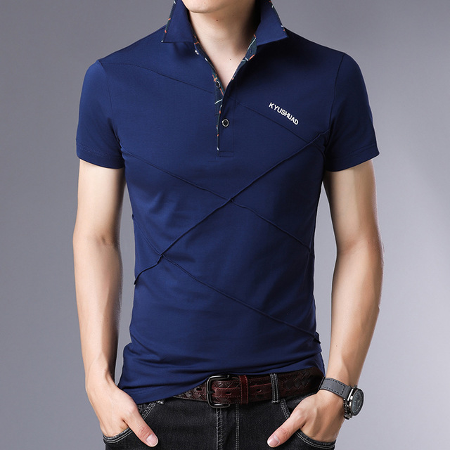 Classic 2019 New Summer   Polo   Shirts Short Sleeve Men Solid Color Plus Size M-3XL 4XL 5XL