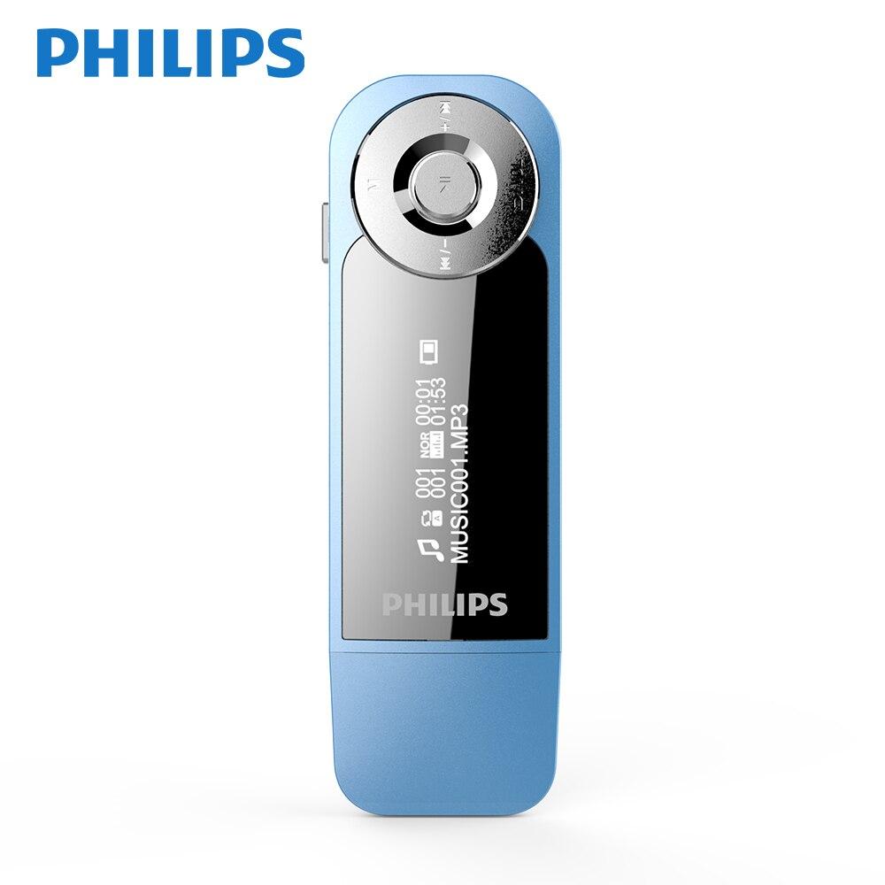 Philips Original 8 GB lecteur MP3 MINI sport course Clip avec ecouteurs FM Radio FLAC WMA Format MP3 SA1208
