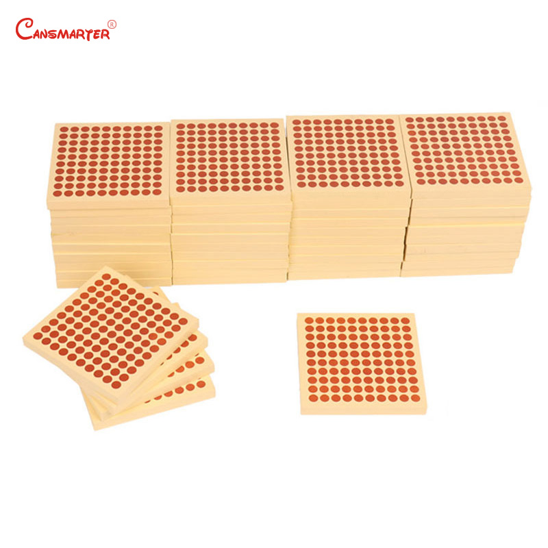 Beech Wood Squares Cubes Math Toys Montessori Education Teaching Numbers Game Materials Math Toys Puzzle Preschool Aids MA160 3 in Math Toys from Toys Hobbies