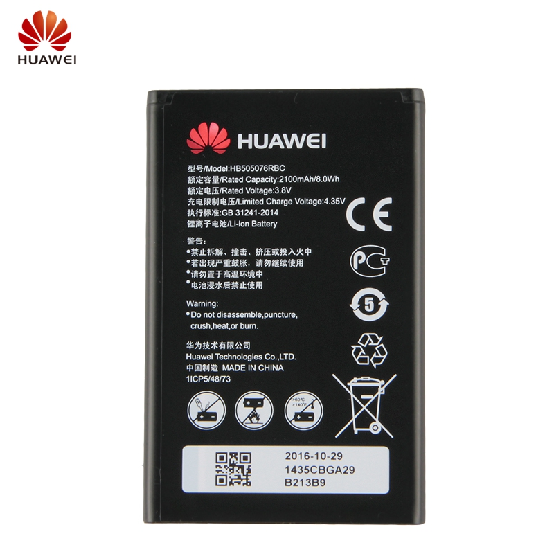 HuaWei Original HB505076RBC Phone Battery For Huawei A199 G606 G610 G610S G700 G710 G716 C8815 Y600D U00 Y610 Y3ii 2100mAh-in Mobile Phone Batteries from Cellphones & Telecommunications