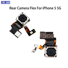 Rear Back Camera Module Flex For Apple iPhone 5 5G Cable Replacement Auto Focus Flash Mobile Phones Facing Camera Module Repair repair parts replacement keystoke module for iphone 3g