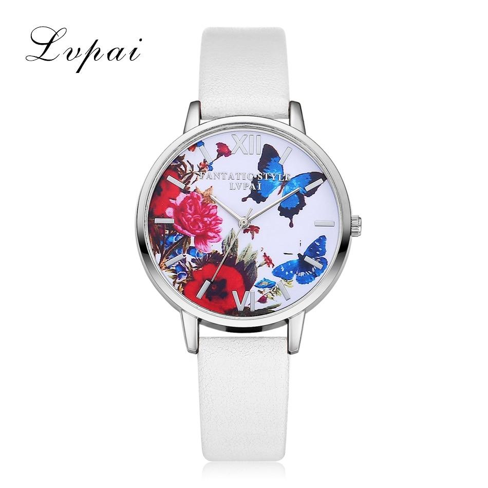 New Silver Butterfly Women Watches 2018 Brand Luxury Rose Gold Round Fashion Popular Wristwatch Female Quartz Watch Women Watch