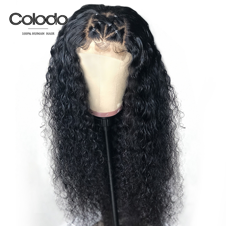 Glueless Curly Lace Front Wig For Black Women Brazilian Remy Hair Lace Wig Preplucked Long Human