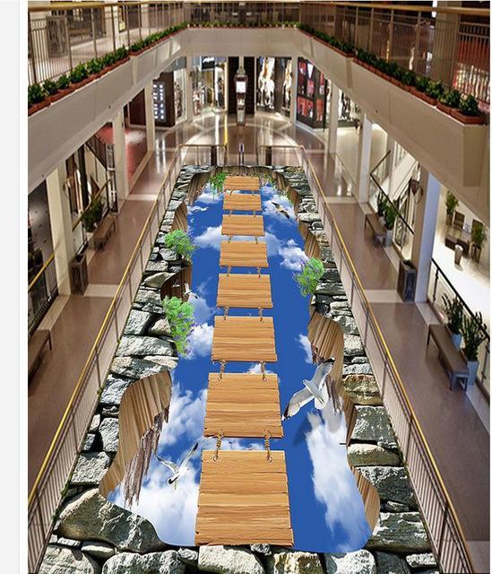 3d Exhibition Hall : Walkway exhibition hall living room wooden bridge on the