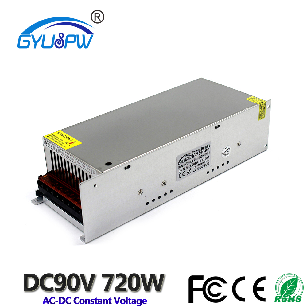 720W 8A 90V DC Power Supply Switching Driver Transformer 220V AC to DC90V output for Industrial