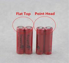 18pcs/lot TrustFire IMR 14500 700mAh 3.7V Rechargeable Li-ion Battery Power Batteries Output 5A For E-cigarette Torch Point Head