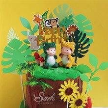 תוספות דינוזאור תינוק קישוט ילדי של יום קישוטי צמח העולם עוגת טופר עבור ילד פיות ילד שמח מסיבת יום הולדת חמוד מתנה