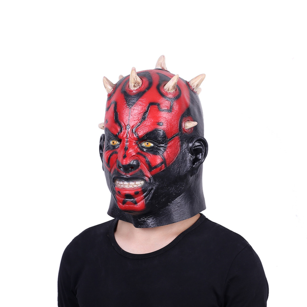 Image 4 - Darth Maul Mask Halloween Masquerade Masks Party Cosplay Movie Star Wars Mascara Latex Realista Masque Devil Horror Carnaval-in Party Masks from Home & Garden