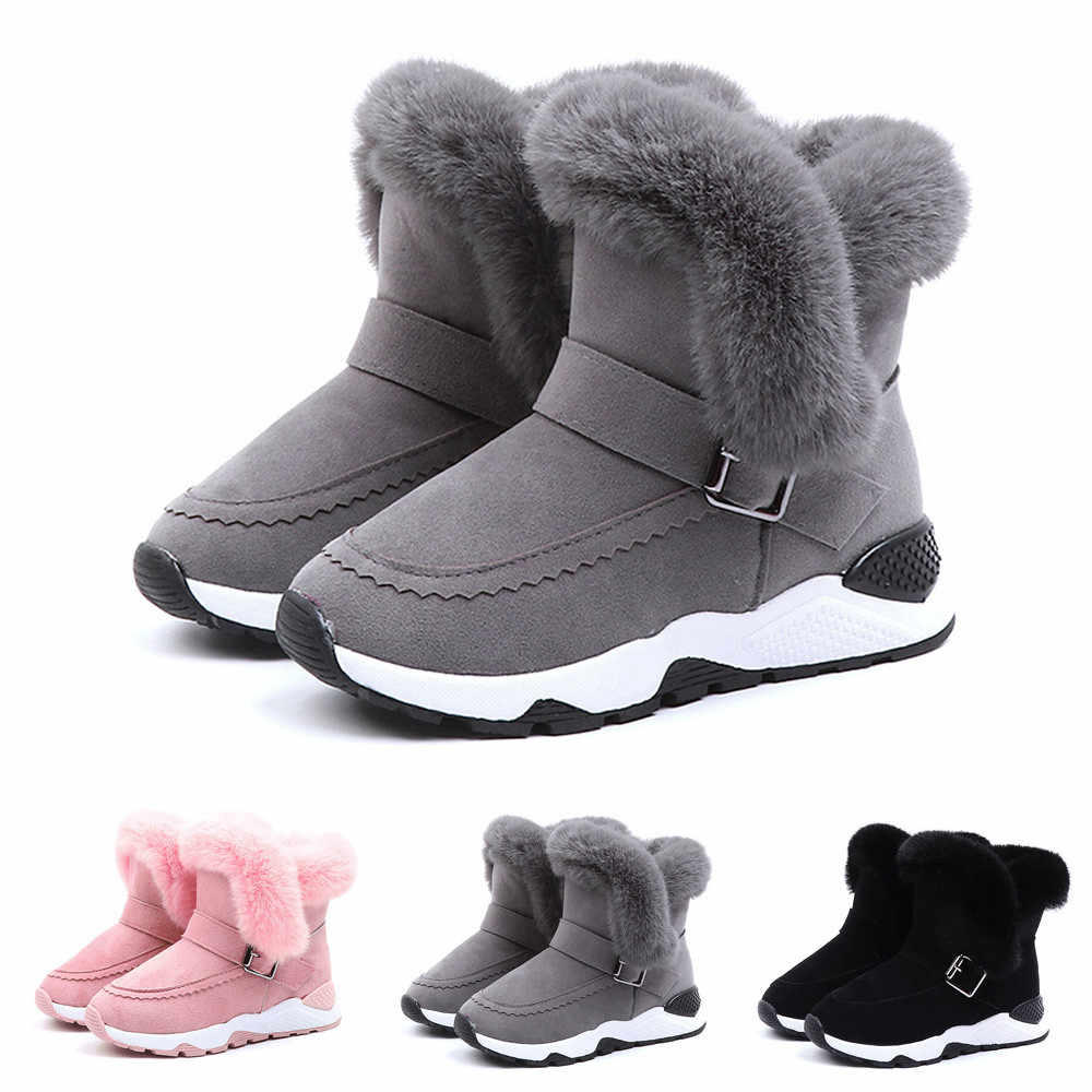 Winter Baby Shoes Kids Baby Infant Boys Girls Child Fur Flock Winter Bootie Warm Snow Shoes Boots Shoes For Girls Boys sapato