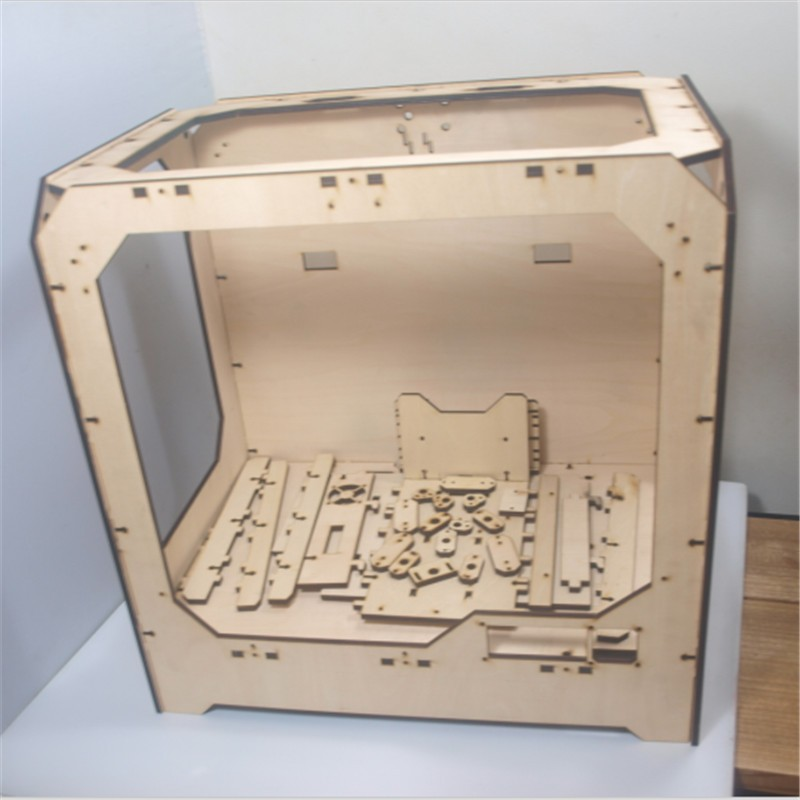 DIY-Reprap-extended-volume-Unofficial-Replicator-XL-V1-5-3D-printer-laser-cut-wooden-frame-kit