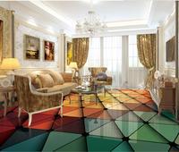 3d flooring Simple and stylish geometric triangular graphic floor 3d wallpaper pvc 3d floor painting wallpaper