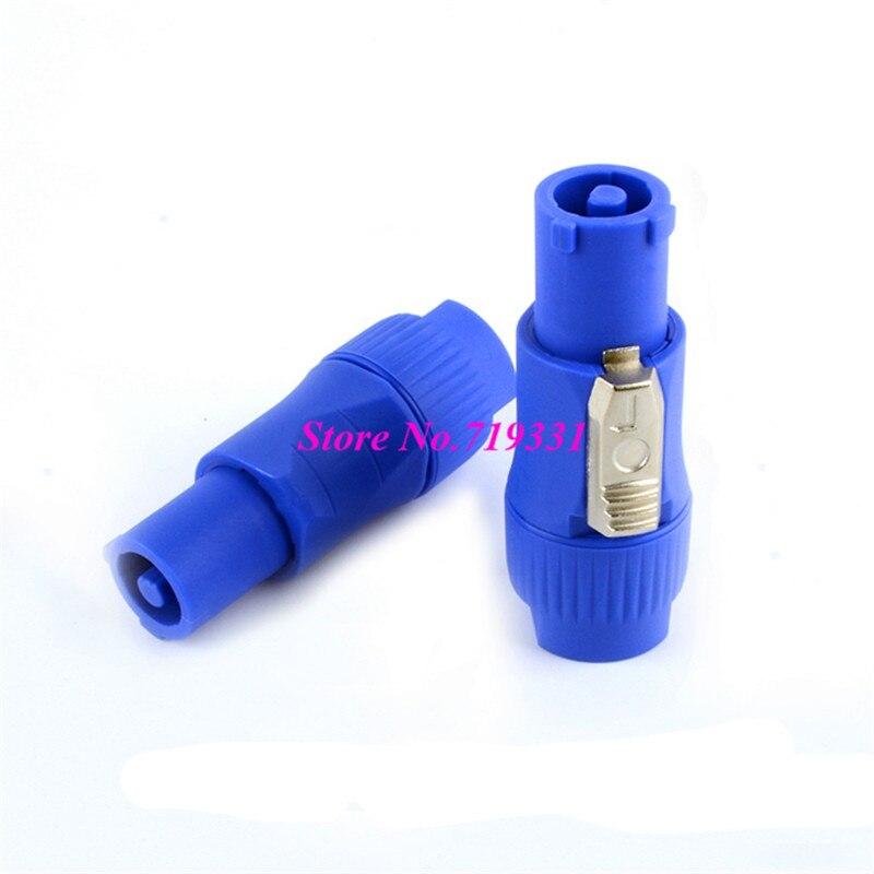 100 компл.. высокое качество 3 булавки PowerCON тип A NAC3FCA + NAC3MPA 1 шасси Plug панель адаптер синий и серый