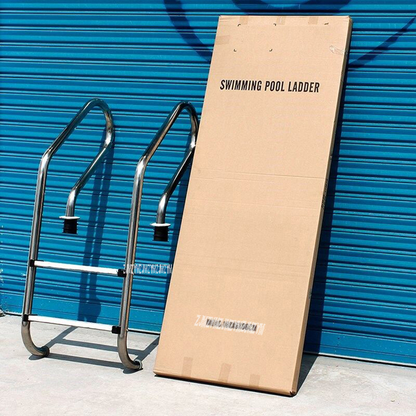 SF-215 130cm Height 304 Stainless Steel 2 Step In-Ground Swimming Pool Equipment Anti Skid Ladder Suit for 0.8-1.0m Depth inter step is sf sonyz2clg