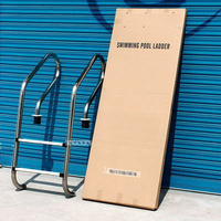 SF 215 130cm Height 304 Stainless Steel 2 Step In Ground Swimming Pool Equipment Anti Skid Ladder Suit for 0.8 1.0m Depth