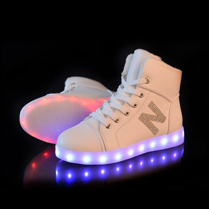 Men's Shoes Discreet Sytat Luminous Led Shoes 2017 Emitting Casual Shoes Men Lovers Led Lighted Chaussure Unisex Usb Charging Glowing Led Shoes Men's Casual Shoes