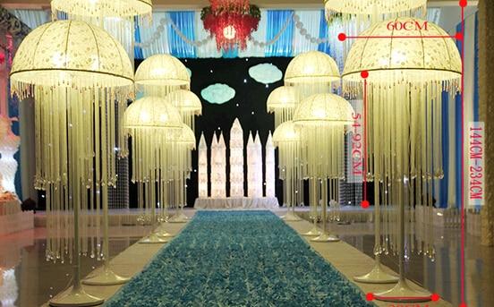 Drop of jellyfish lanterns wedding centerpieceroad leadwedding drop of jellyfish lanterns wedding centerpieceroad leadwedding pillars wedding decoration furnishing junglespirit Gallery