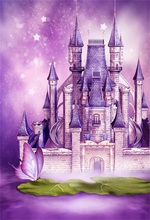 Laeacco Fairytale Castle Butterfly Stars Bokeh Photography Backgrounds Vinyl Custom Photographic Backdrops For Photo Studio