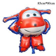 3D Super Asas Folha de Balão de Hélio Ballon globos SuperWings Jett 1 pcs Decorações Da Festa de Aniversário Crianças brinquedos infláveis bolas de ar