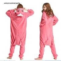 Kigurumi Onesies Pink whale man Women Pajamas Adult Costume Animal Sleepwear Jumpsuit Cartoon Sleepsuit Cosplay party