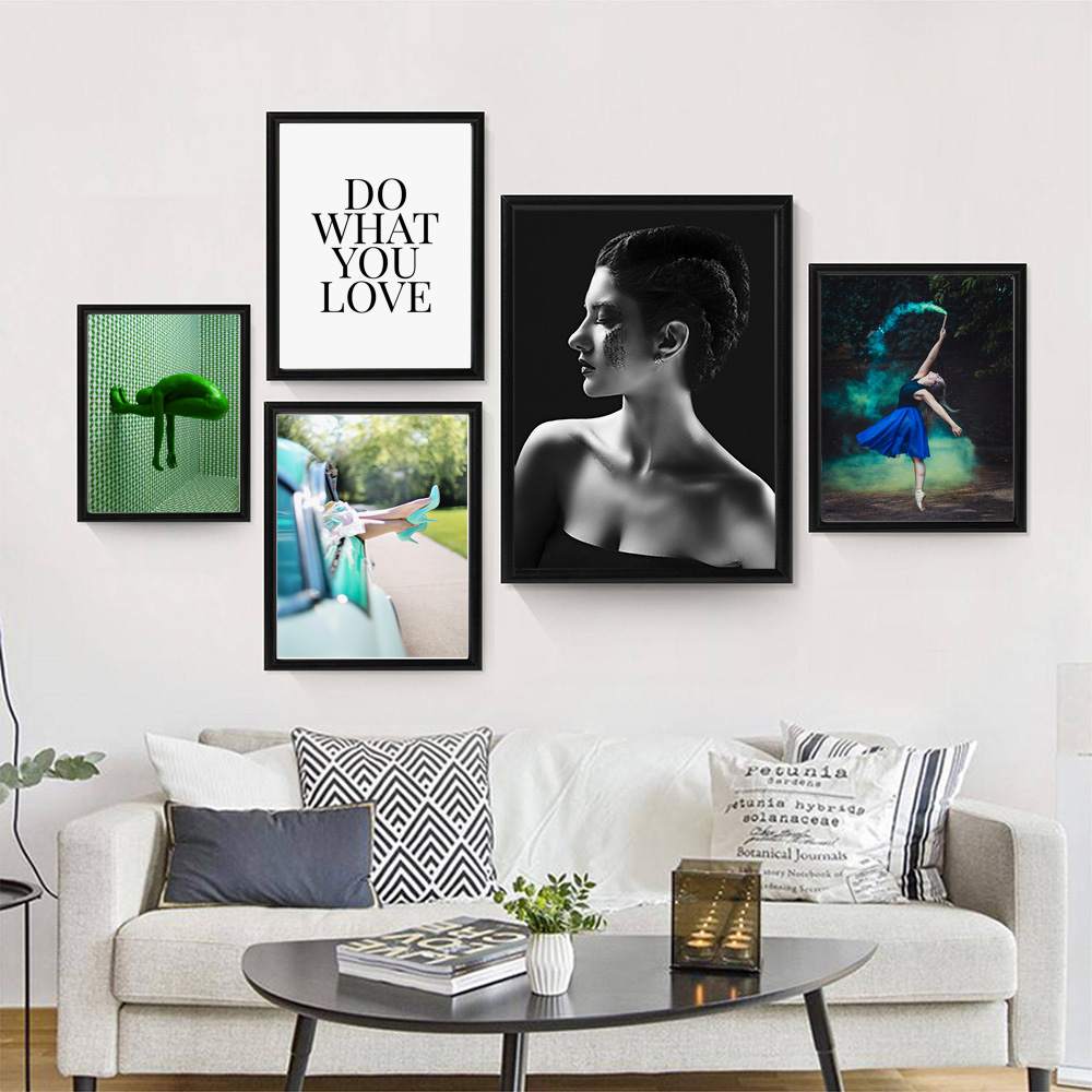 Fashion Girl Wall Art Canvas Poster Print Nordic Style Modern Home Room Decor