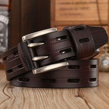 Brand New Style – High Quality Double Needle Metal Buckle Leather Belt For Men