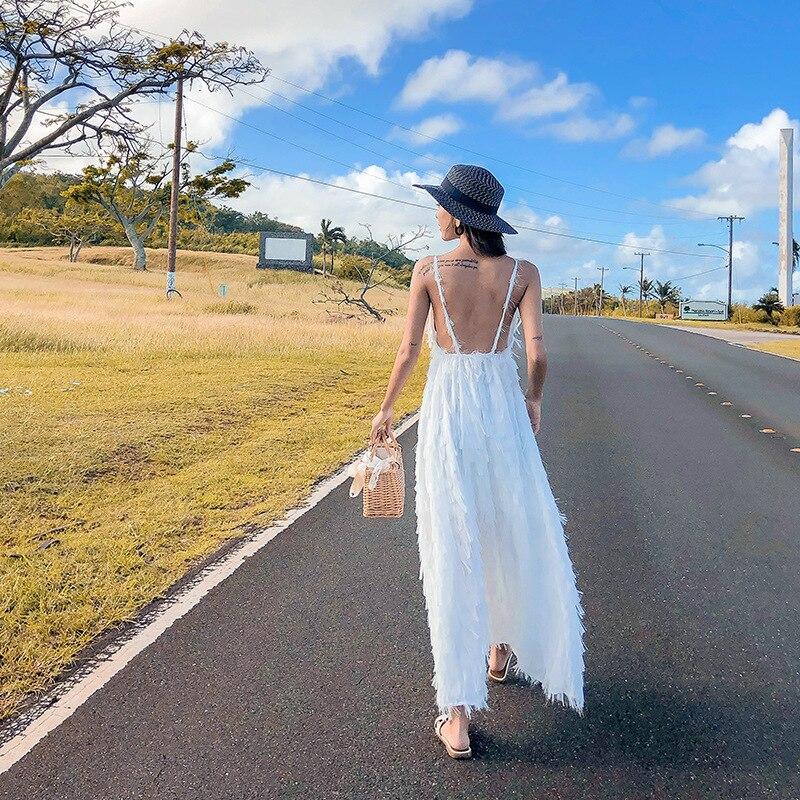 Femmes Bohême Plage Robe Blanc Couverture-ups Tuniques Sarong Plage Porter À Bronzer Usage Frais - 2