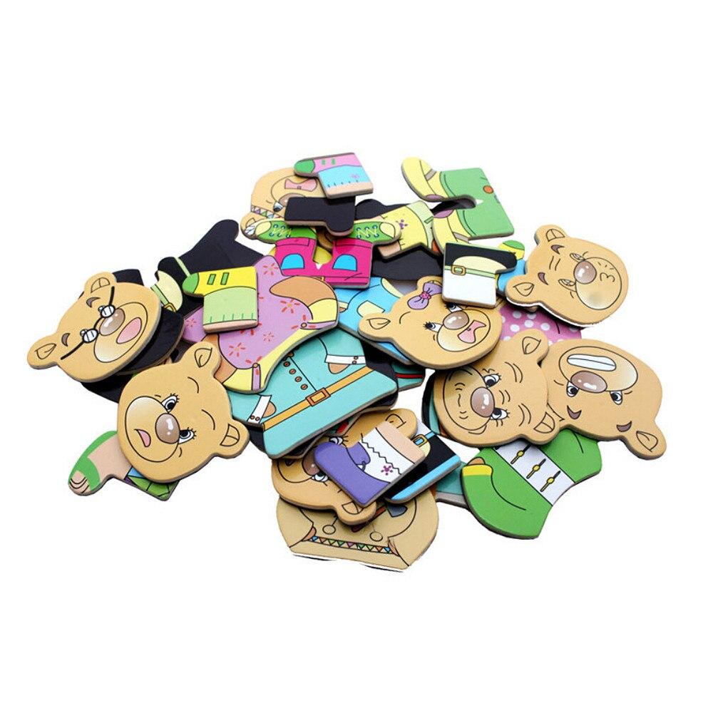 Multifonctionnel Dessin tableau d'écriture puzzle magnétique Double Chevalet jouet en bois Features22323.11