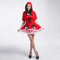 Kigurumi VASHEJIANG Czerwony Kapturek Kostium Dorosłych Fantasia Renaissance Kobiety Cosplay Kostiumy Halloween Fancy Dress