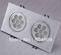 Dimmable 14 W (2*7 W) 14-LED Duplo-Head Teto Rebaixado Gabinete Luminária Downlight/Spotlight Bulb Lamp Retângulo AC 110 V/220 V
