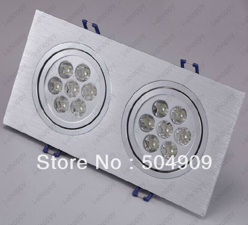 Dimmable 14W(2*7W) 14 LED Dual Head Recessed Ceiling Cabinet Light Fixture Downlight/Spotlight Bulb L& Rectangle AC 110V/220V-in Ceiling Lights from ... & Dimmable 14W(2*7W) 14 LED Dual Head Recessed Ceiling Cabinet Light ...