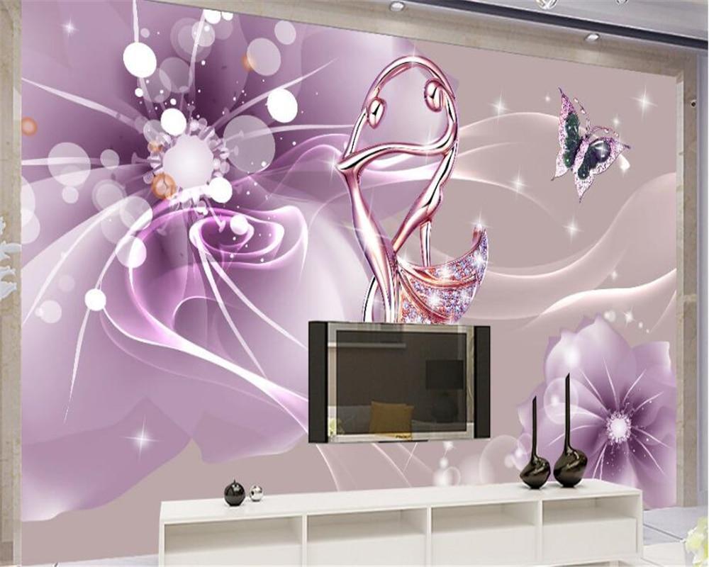 Beibehang interior casa decorativa papel de parede estética romântico dança jóias fundo da