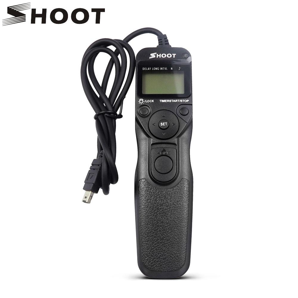 SHOOT MC-DC2 Timer Shutter Remote Control for Nikon D90 D600 D610 3100 D3200 D3300 D5000 D5100 D5200 D5300 Digital SLR Cameras