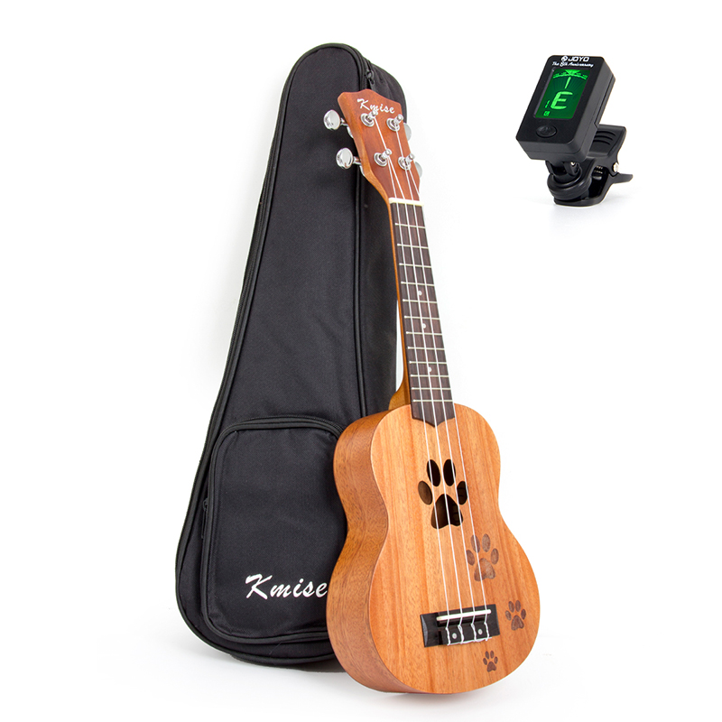 Kmise Soprano Ukulele Mahogany Ukelele Uke Hawaii Guitar 12 Frets 21 Inch with Gig Bag Tuner for Beginner soprano ukulele neck for 21 inch ukelele uke hawaii guitar parts luthier diy sapele veneer pack of 5