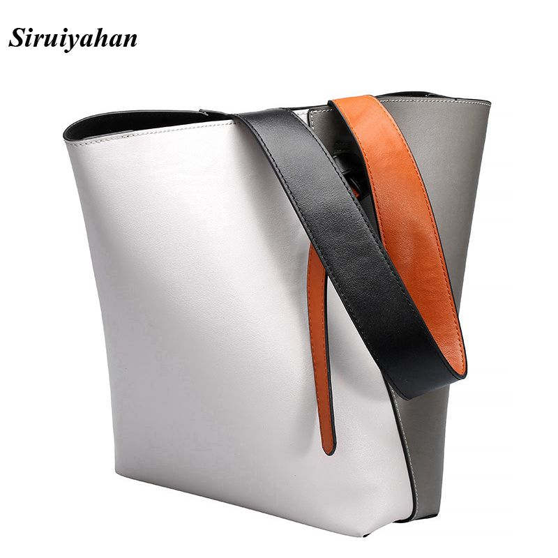 Siruiyahan Genuine Leather Bag Female Bags Women Bags Handbags Women Famous Brands Shoulder Bag Female Bolsa Feminina seven skin 2017 new fashion women handbags famous brands leather bags female large shoulder bags casual tote bag bolsa feminina