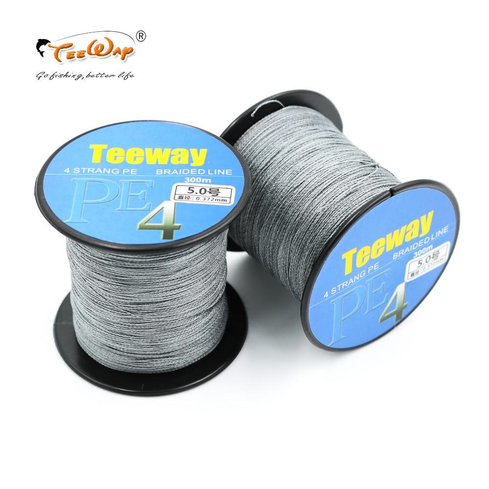 Buy teeway 1pcs 300m braided pe fishing for Strong fishing line