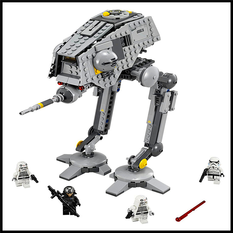 Factory Price 499Pcs Building Blocks Toy Star Wars AT-DP DIY Assemble Figure Educational Brick Brinquedos For Kids+With Gift