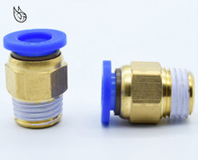 цена на PC Straight Push in Fitting Pneumatic Push to Connect Air 4-12mm OD Hose Tube 1/8 1/4 3/8 1/2BSP Male Thread Connector