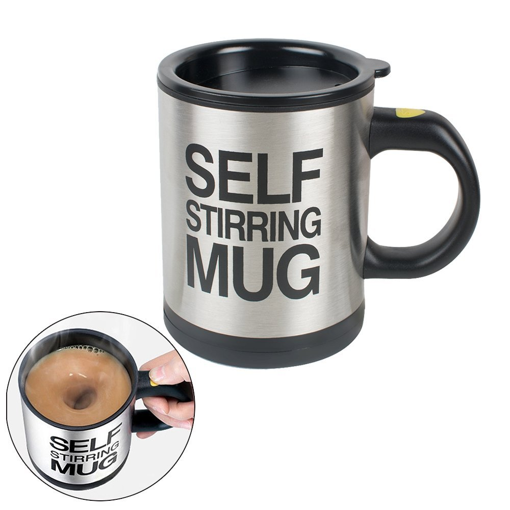 Self Stirring Coffee Mug Electric Stainless Steel Automatic Self Mixing Cups for Stir Coffee Milk Mix Juice Drink Plastic 300ml цена и фото